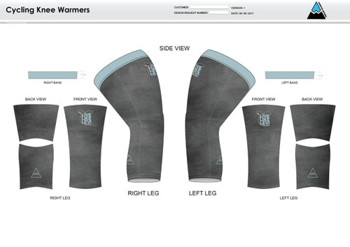 Be A Legend Cycling Knee Sleeves