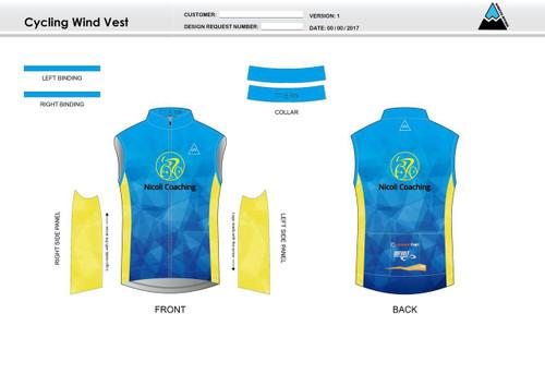 Nicoli Cycling Wind Vest