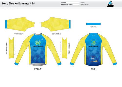 Nicoli Long Sleeve Running Shirt
