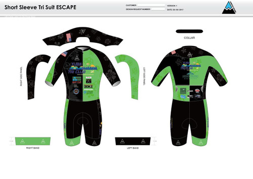 Yuba Sutter ESCAPE Short Sleeve Tri Suit