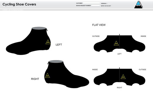 Team Ross Cycling Shoe Covers