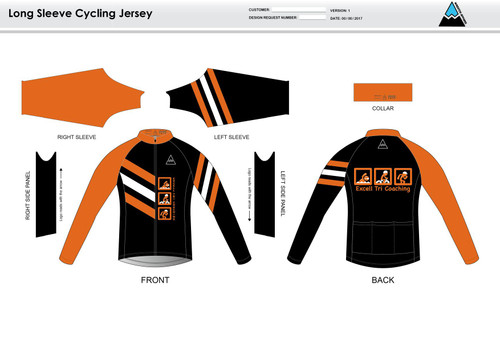 Excell Black Long Sleeve Cycling Jersey