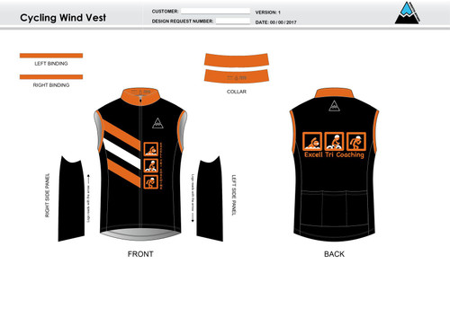 Excell Black Cycling Wind Vest