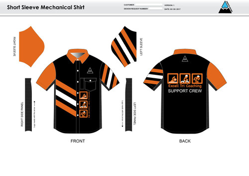 Excell Black Youth Mechanic Shirt