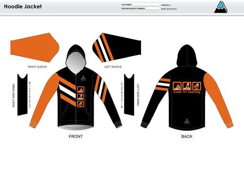 Excell Black Hoodie Jacket