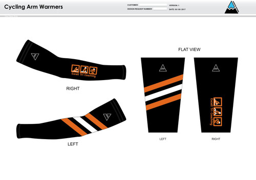 Excell Black Cycling Arm Sleeves