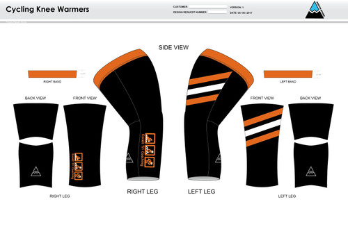 Excell Black Cycling Knee Sleeves