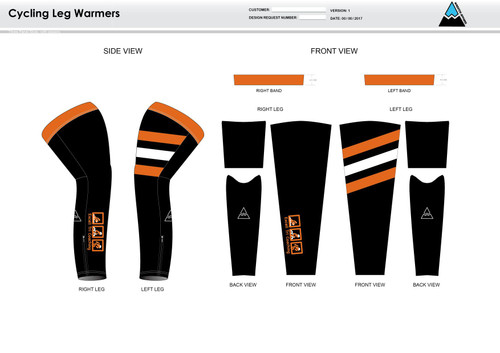 Excell Black Cycling Leg Sleeves