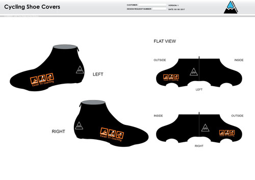 Excell Black Cycling Shoe Covers