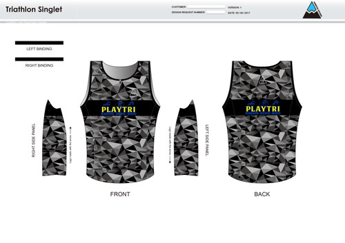 Playtri Norwalk Men's Tri Singlet