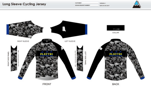 Playtri Norwalk Long Sleeve Cycling Jersey