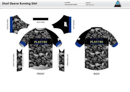 Playtri Norwalk Short Sleeve Running Shirt