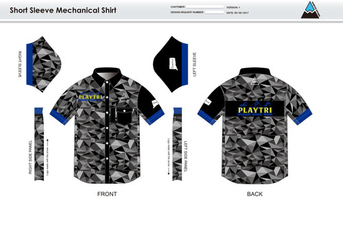 Playtri Norwalk Adult Mechanic Shirt - UNISEX Sizing