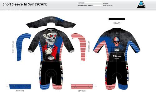 Bingham ESCAPE Short Sleeve Tri Suit
