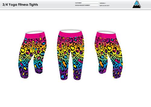 Al;ve Women's 3/4 Fitness Tights