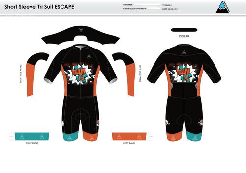 Team CJ ESCAPE Short Sleeve Tri Suit