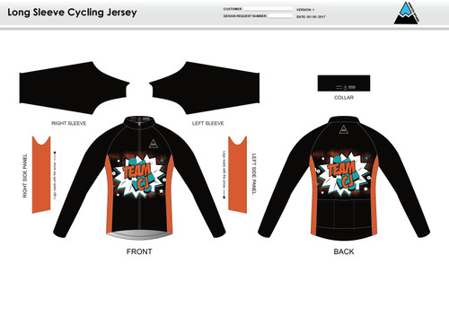 Team CJ Long Sleeve Cycling Jersey