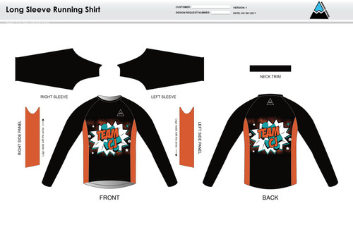 Team CJ Long Sleeve Running Shirt