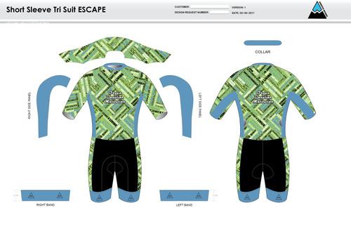 ODM ESCAPE Short Sleeve Tri Suit