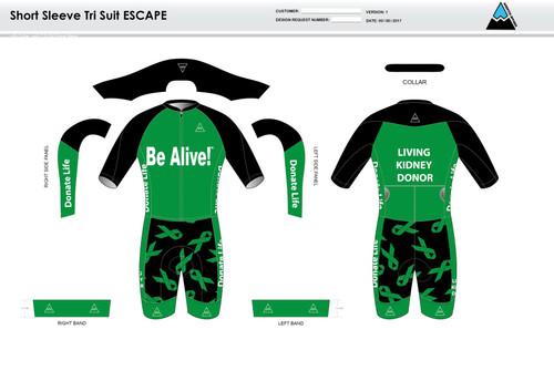 Be Alive ESCAPE Short Sleeve Tri Suit