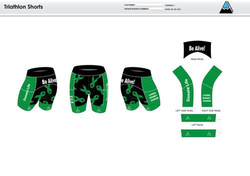 Be Alive Men's Tri Shorts