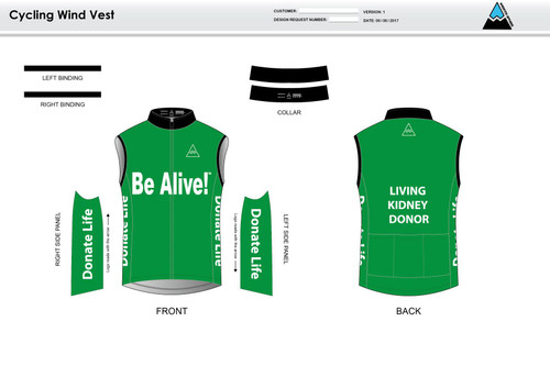 Be Alive Cycling Wind Vest
