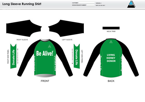 Be Alive Long Sleeve Running Shirt