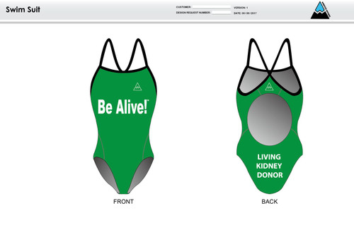 Be Alive Women's One Piece Swimsuit