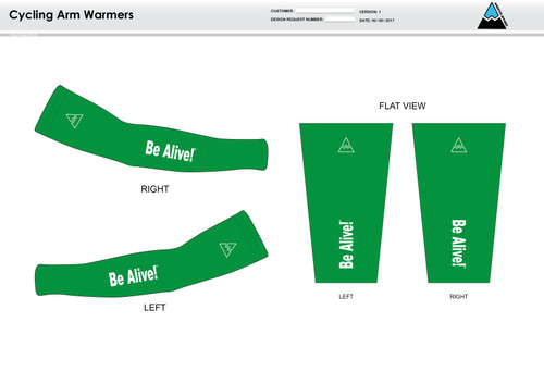 Be Alive Cycling Arm Sleeves