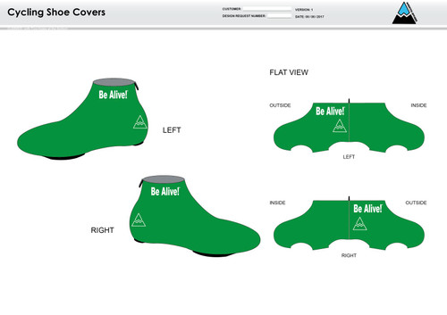 Be Alive Cycling Shoe Covers