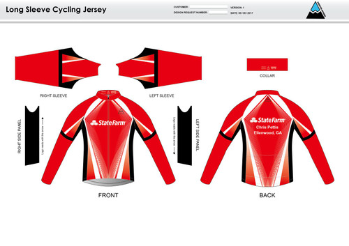 Pettis Long Sleeve Thermal Cycling Jersey