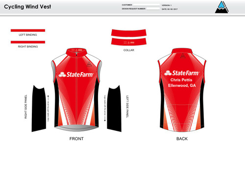 Pettis Cycling Wind Vest
