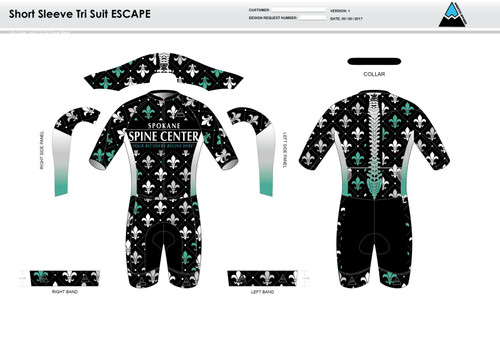Fluer De Lis ESCAPE Short Sleeve Tri Suit