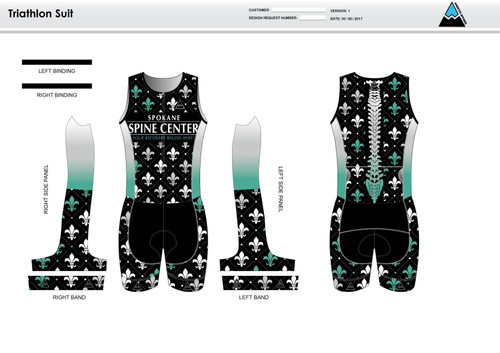 Fler De Lis Sleeveless Tri Suit