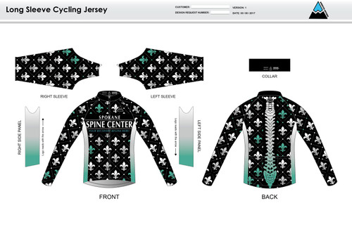 Fluer De Lis Long Sleeve Cycling Jersey