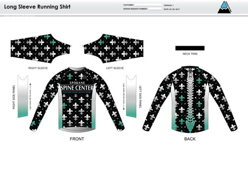 Fluer De Lis Long Sleeve Running Shirt