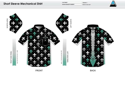 Fluer De Lis Youth Mechanic Shirt