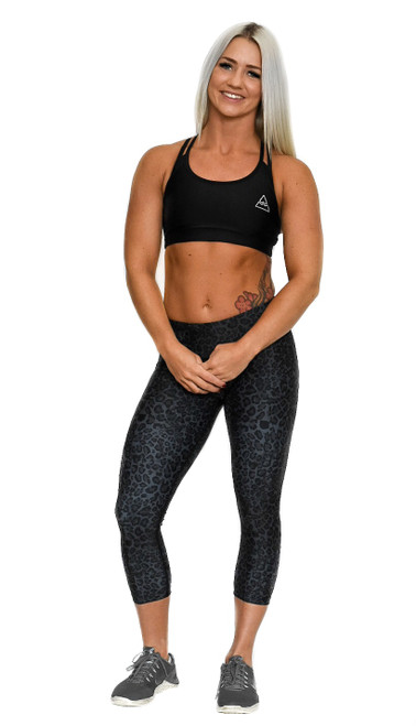 Black Cheetah Women's 3/4 Fitness Tights