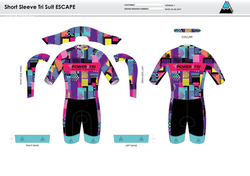 Sally ESCAPE Short Sleeve Tri Suit