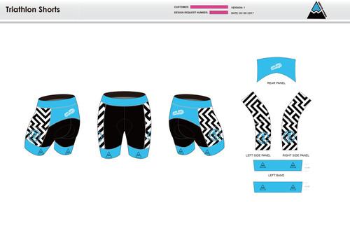 Dirtbag Blue Women's Tri Shorts