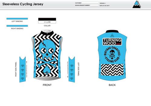 Dirtbag Blue Sleeveless Cycling Jersey