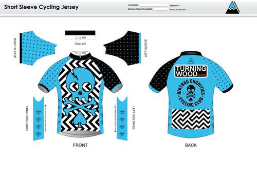 Dirtbag Blue Short Sleeve Cycling Jersey