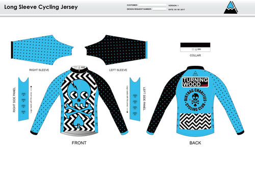 Dirtbag Blue Long Sleeve Cycling Jersey