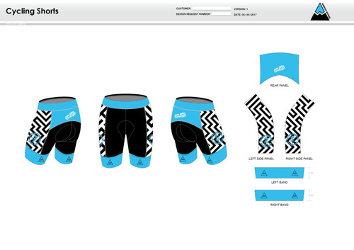 Dirtbag Blue Cycling Shorts