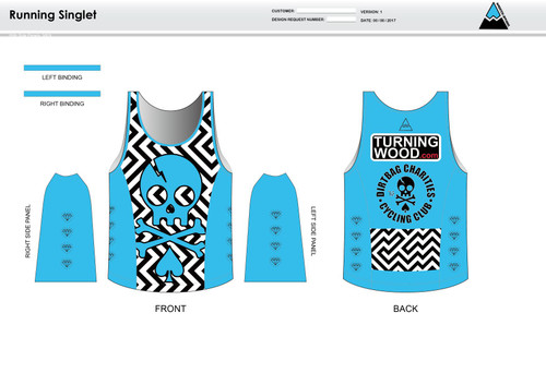 Dirtbag Blue Running Tank