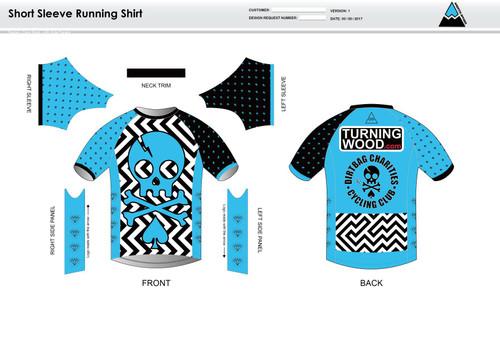 Dirtbag Blue Short Sleeve Running Shirt