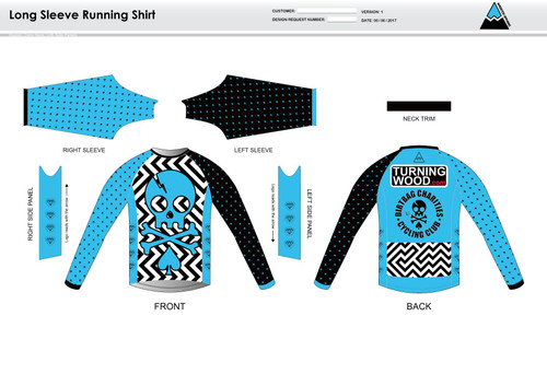 Dirtbag Blue Long Sleeve Running Shirt