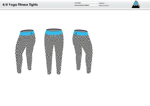 Dirtbag Blue Women's Full Length Fitness Tights