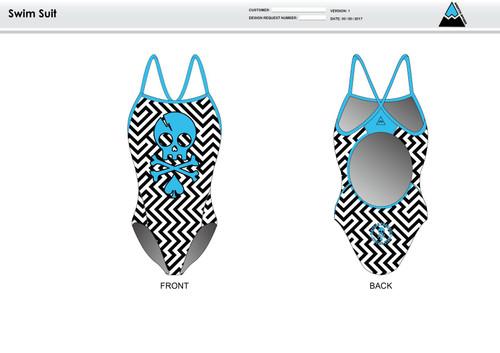 Dirtbag Blue Women's One Piece Swimsuit