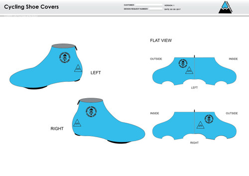 Dirtbag Blue Cycling Shoe Covers